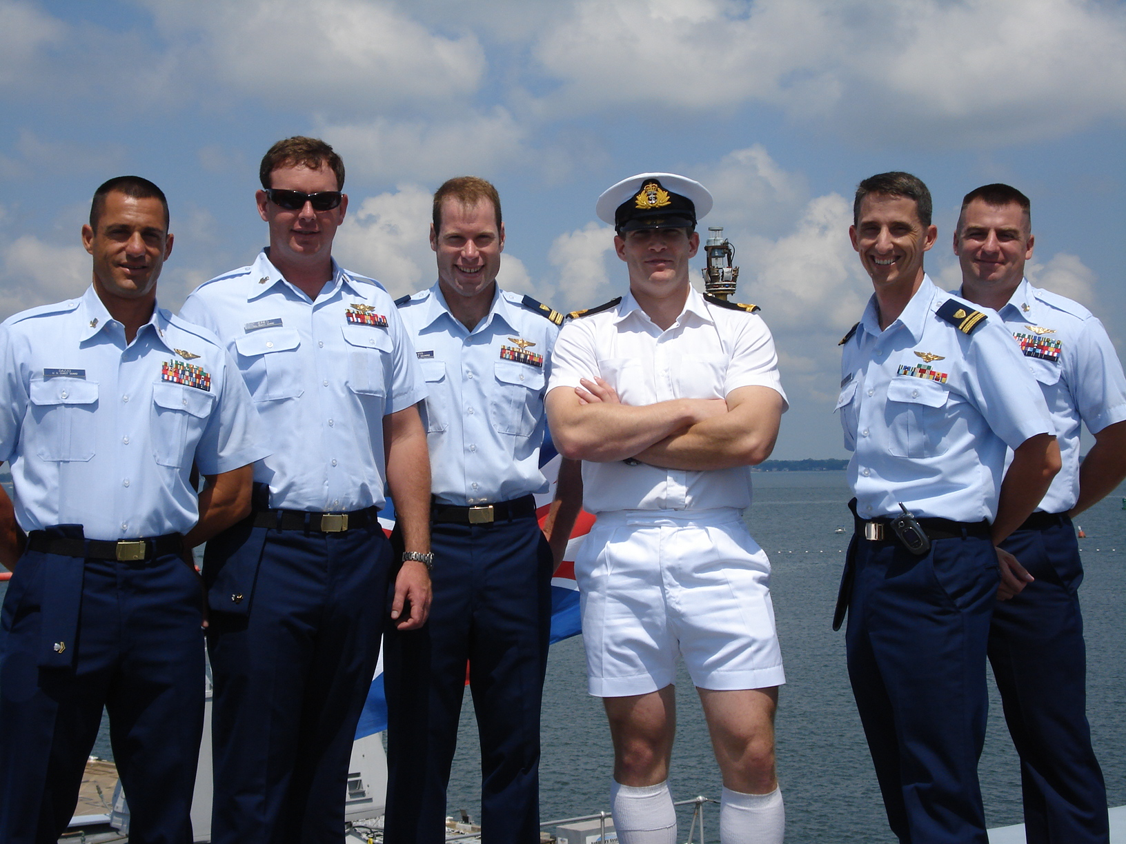 US Coast Guard crews honored by her Majesty' services after saving ...