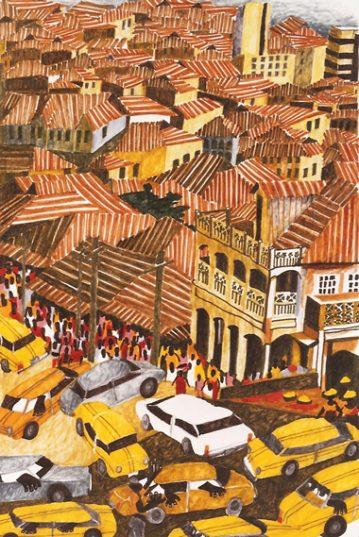 Corrugated Roofs, Lagos Nigeria Mayke Sassen artiste-peintre