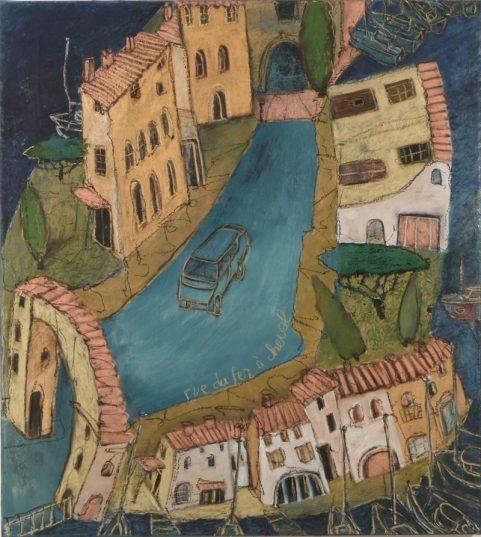 Le Fer à Cheval - jeu de perspectives (collection privée) Mayke Sassen artiste-peintre