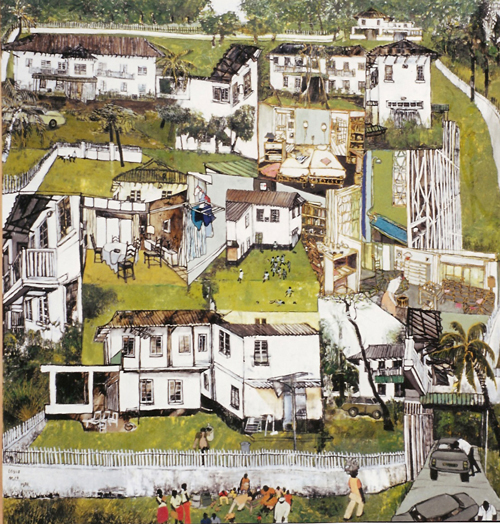 House on Ikoyi, Lagos Nigeria (private collection) Mayke Sassen artiste-peintre