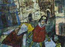 Mathilda Gone Shopping (oil on canvas 90 x 100cm)