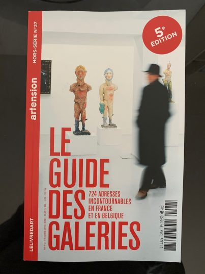 """artension octobre 2019 """"le Guide des Galerie"""""""