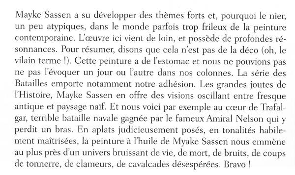 texte Miroir de l'Art sur Mayke Sassen page 39