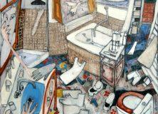 "Painting ""La Salle de Bains"" of Mayke Sassen' Inimate Scene period."