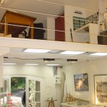studio finished with its mezzanine