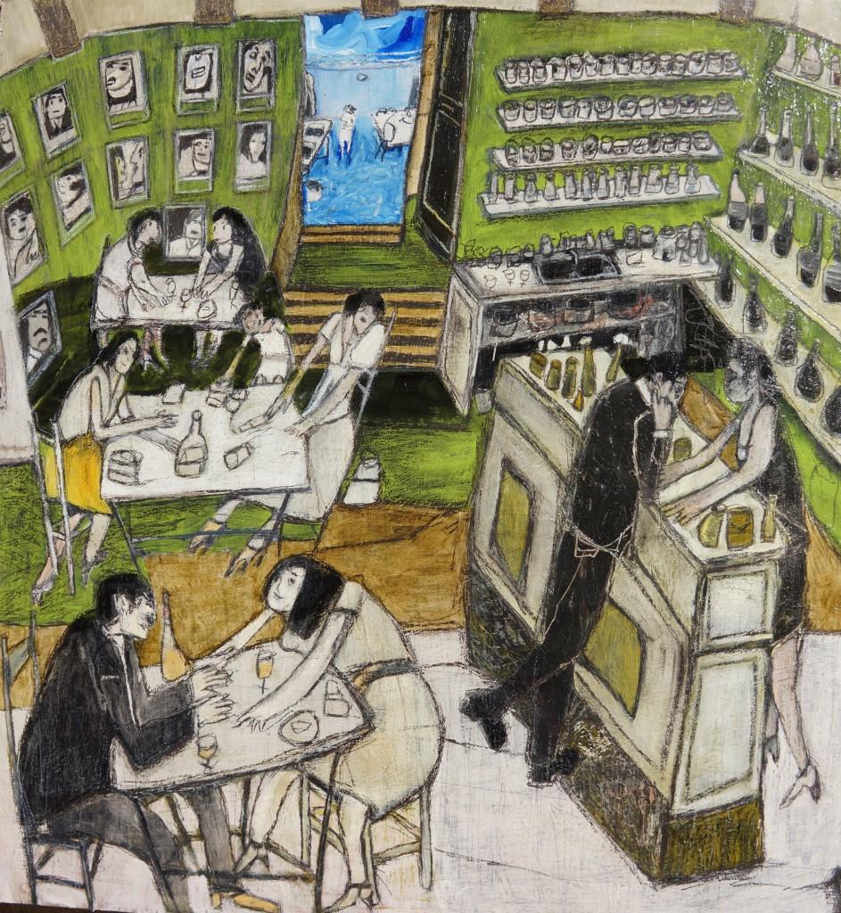 Le Bar du Village, Saigon en Luberon Mayke Sassen artiste-peintre