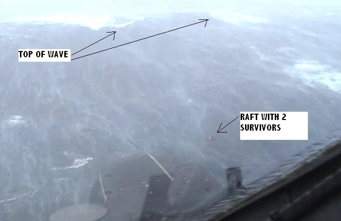 A still from the video footage made of the rescue
